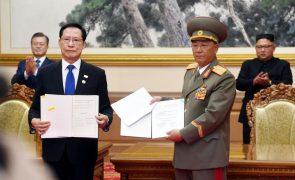 Acordo entre Pyongyang e Seul pretende reduzir tensões militares na fronteira