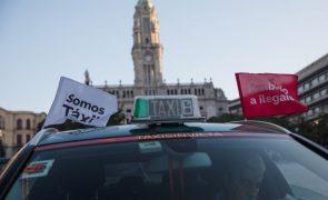 Aumenta para 280 número de taxistas em protesto no Porto