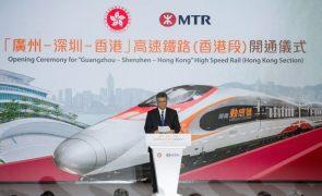 Hong Kong inaugura nova linha ferroviária de alta velocidade para o interior da China