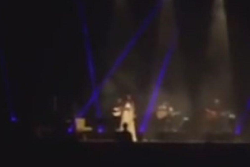 Cuca Roseta pedida em casamento no palco
