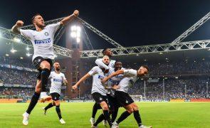 Golo de Brozovic aos 90+4 dá vitória ao Inter Milão na visita à Sampdoria