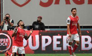 Sporting de Braga vence Sporting e iguala Benfica na liderança da I Liga