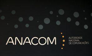 Anacom aplica coimas no valor de 1,3 ME no 1.º semestre