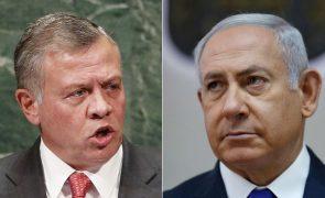 Netanyahu diz que Israel quer negociar cedência de terras com a Jordânia