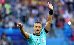 Esloveno Damir Skomina é o árbitro do Sporting-Arsenal
