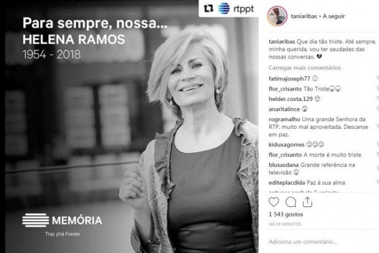 Helena Ramos Perde a luta contra o cancro aos 64 anos