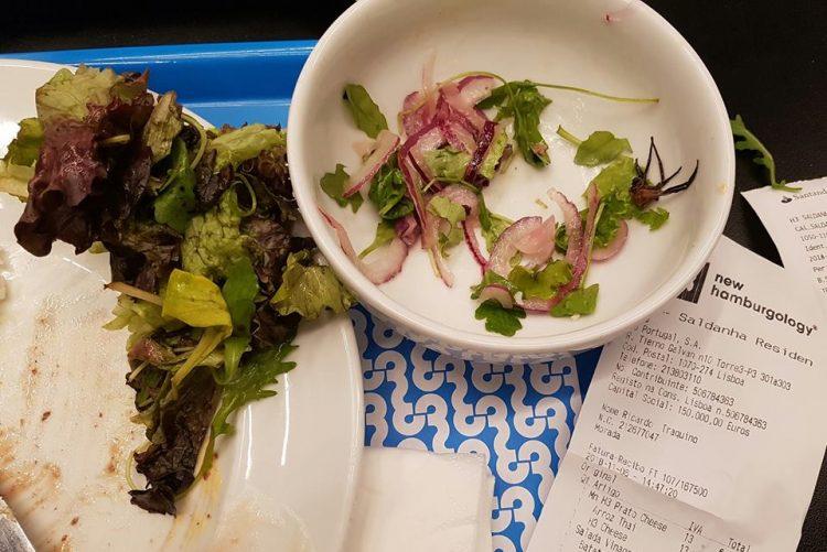 Aranha é servida numa salada em restaurante H3 de Lisboa