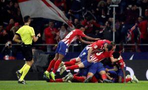 Atlético de Madrid vence o Athletic Bilbau após 'susto' e ascende a 'vice'