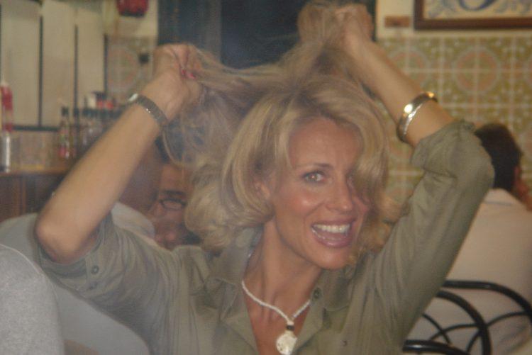 Alexandra lencastre no refeitório dos estúdios de Vialonga, há 12 anos