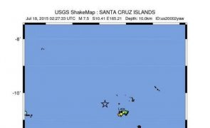 Sismo de magnitude 6,2 registado nas Ilhas Salomão