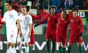 Portugal vence na Polónia e fica em vantagem no 'play-off' do Europeu de sub-21