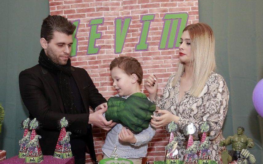 Bernardina Brito e Tiago Ginga juntos Pais de Kévim ao lado do filho em dia especial