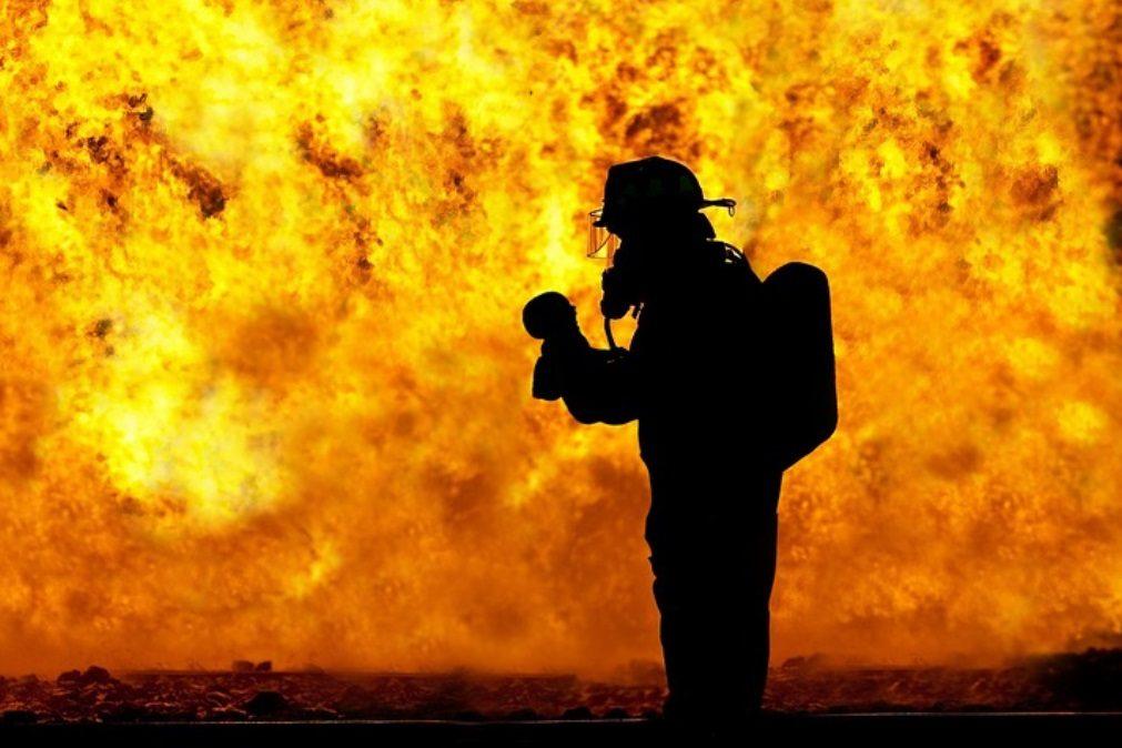 Incêndio em fábrica de papel da Feira combatido por 134 bombeiros
