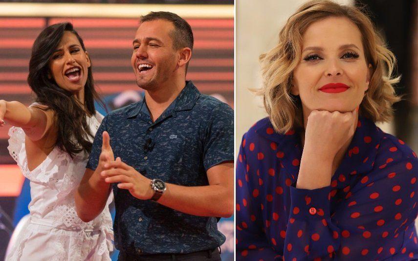 Rita Pereira e Pedro Teixeira assistem a programa de Cristina Ferreira nos bastidores da TVI