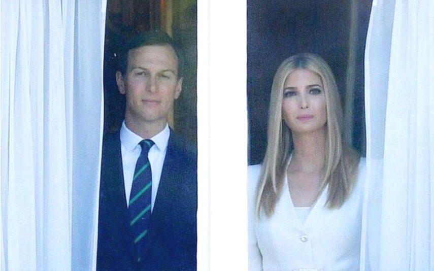 Ivanka Trump e Jared Kushner A foto que está a amedrontar a internet