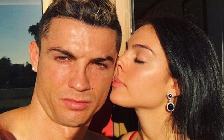 Georgina Rodriguez e Cristiano Ronaldo mostram-se íntimos na cama [foto]