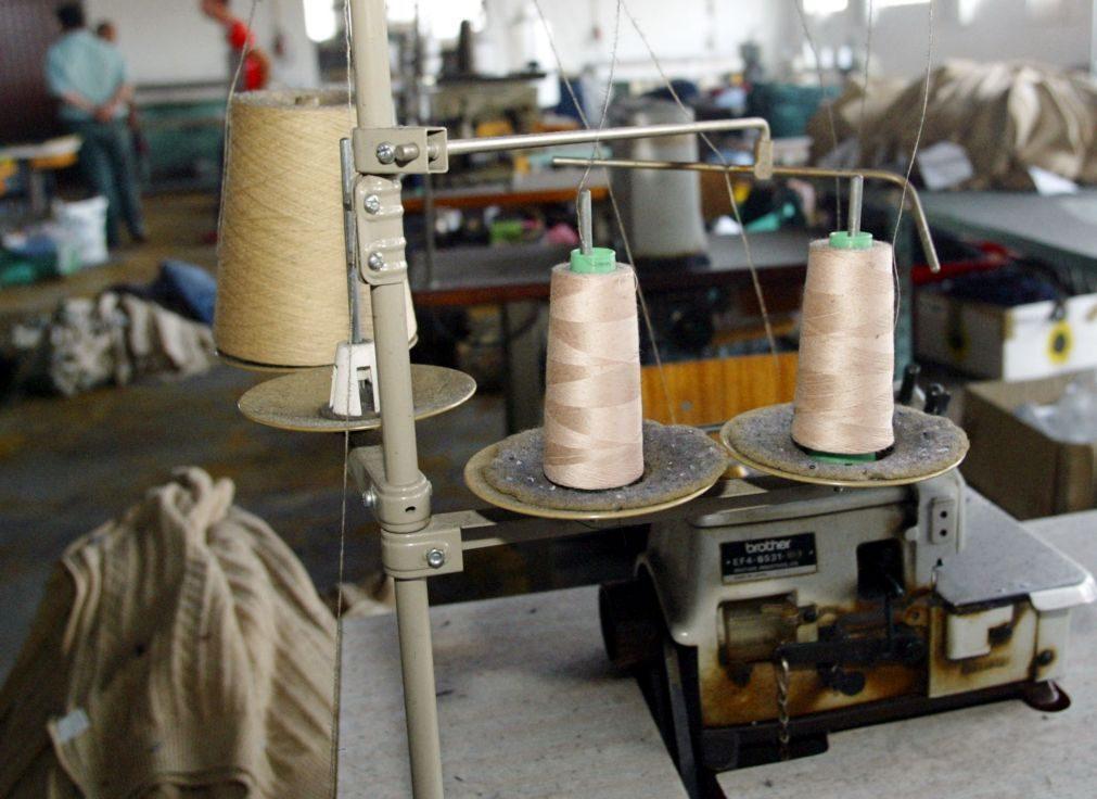 Exportações de têxteis e vestuário aceleram em maio para subida homóloga de 3,7%