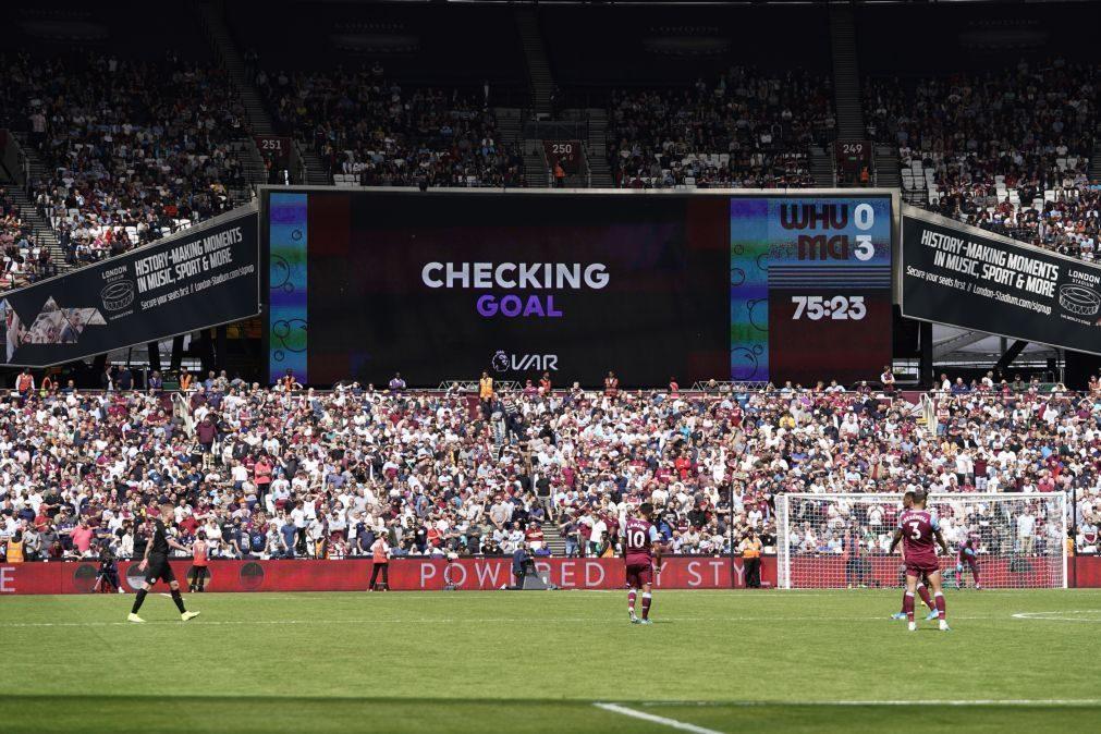 Manchester City começa Liga inglesa com goleada no terreno do West Ham
