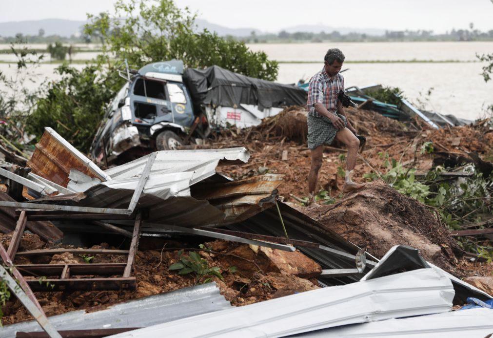 Balanço de mortos em aluimento de terras em Myanmar sobe para 51