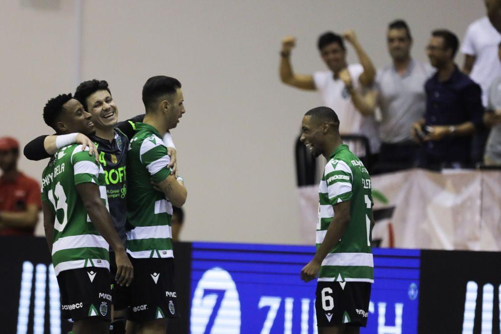 Sporting nos quartos de final da Liga dos Campeões de futsal