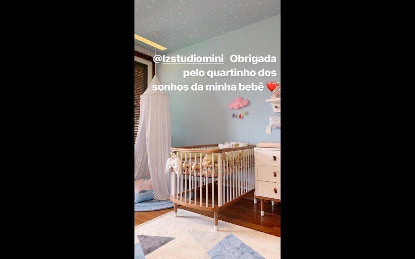 Tatá Werneck Apresentadora brasileira mostra o quarto da filha: «estou apaixonada!»