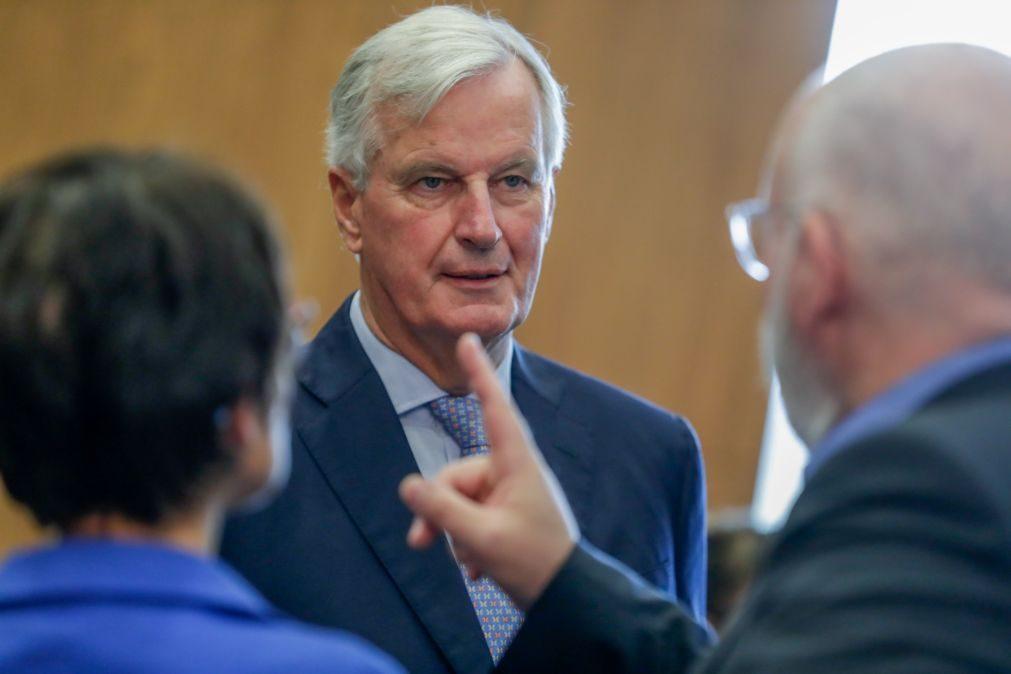 Barnier não está otimista quanto a um acordo com Reino Unido antes do Conselho Europeu