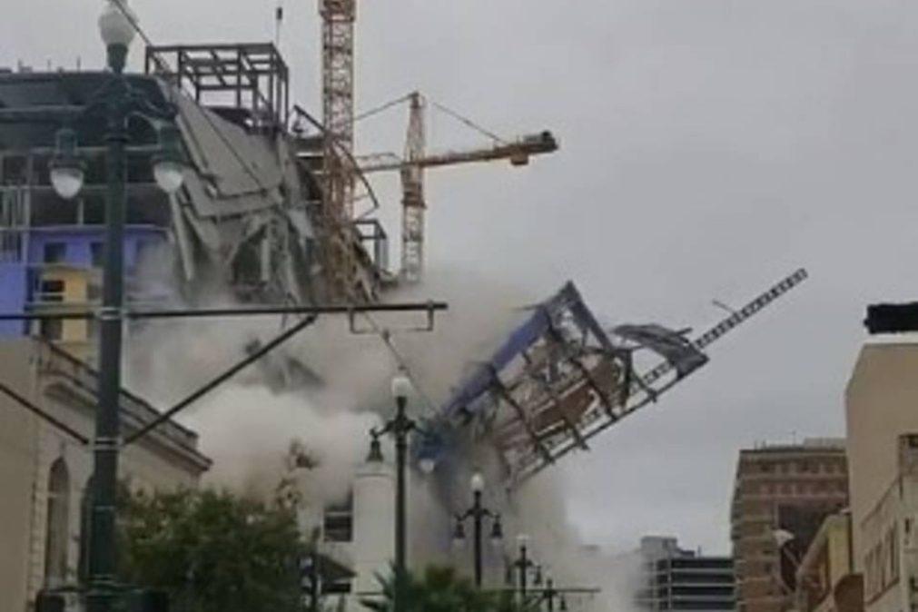 Parte de hotel em Nova Orleães colapsa e faz duas vítimas mortais [vídeo]
