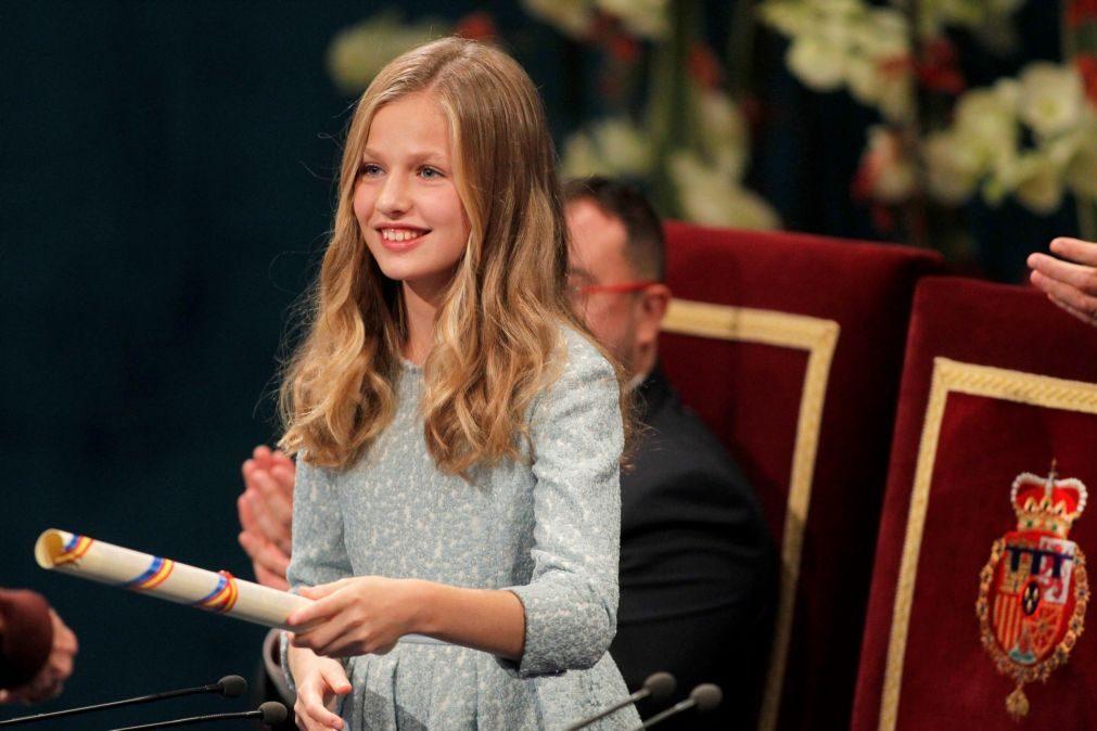 Herdeira da Coroa de Espanha discursa pela primeira vez na entrega dos Prémios Princesa de Astúrias