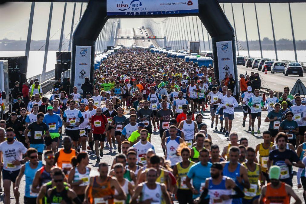 Hermano Ferreira e Catarina Ribeiro contentes pelas marcas na meia maratona de Lisboa