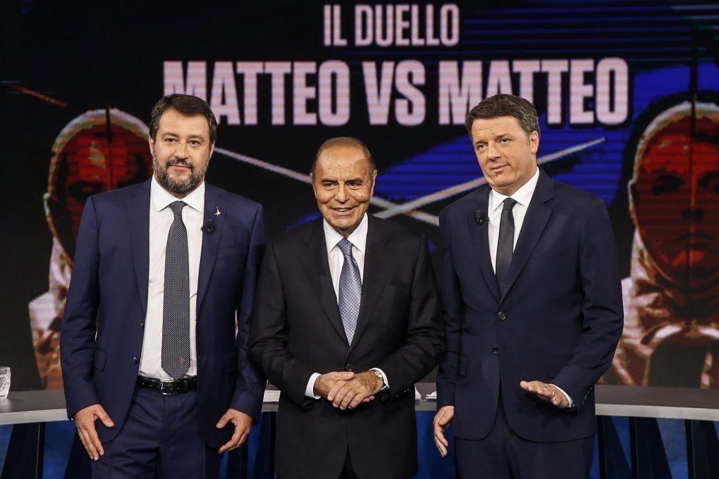 Ex-primeiro-ministro italiano Matteo Renzi garante apoio governo para conter extrema-direita