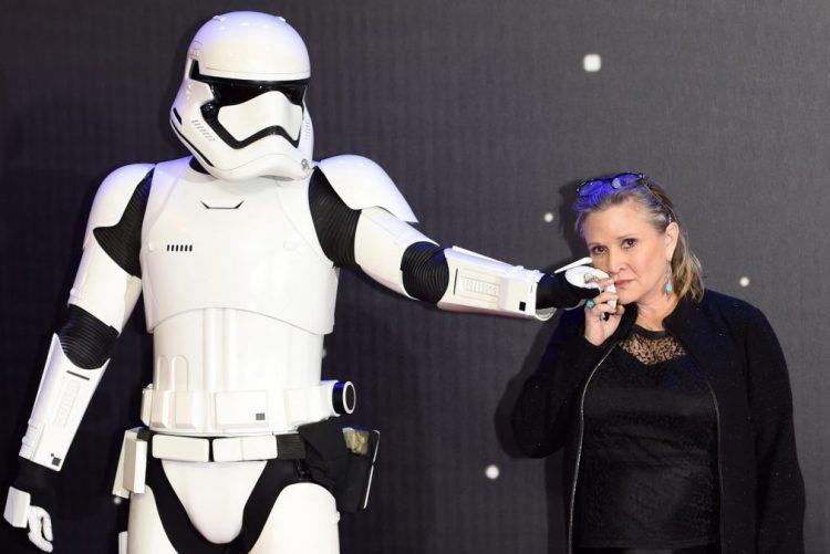 Atriz Carrie Fisher, princesa Leia do