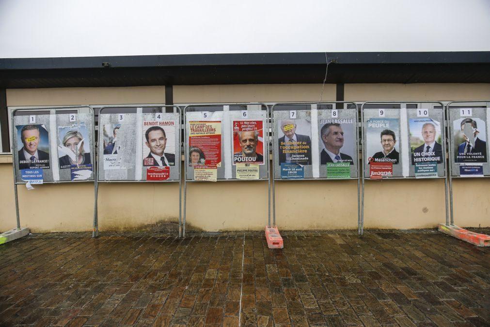 Fillon e Mélenchon aproximam-se ainda mais de Le Pen e Macron nas presidenciais francesas