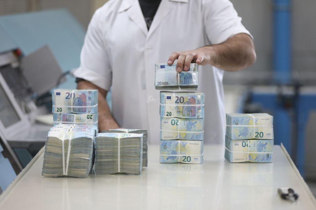 Portugal colocou hoje 1.250 ME a 3 e 11 meses a juros ainda mais negativos