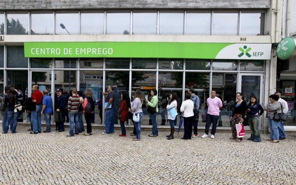 Desempregados inscritos nos centros de emprego em março com maior redução de sempre