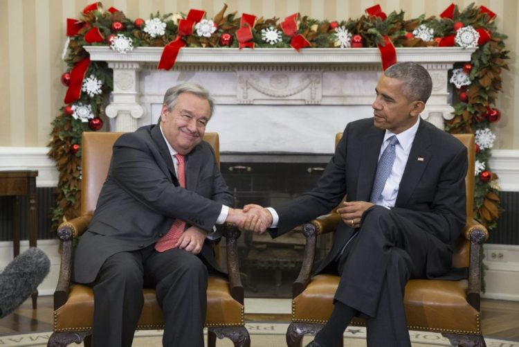 Presidente Obama diz que António Guterres já provou ser líder eficaz