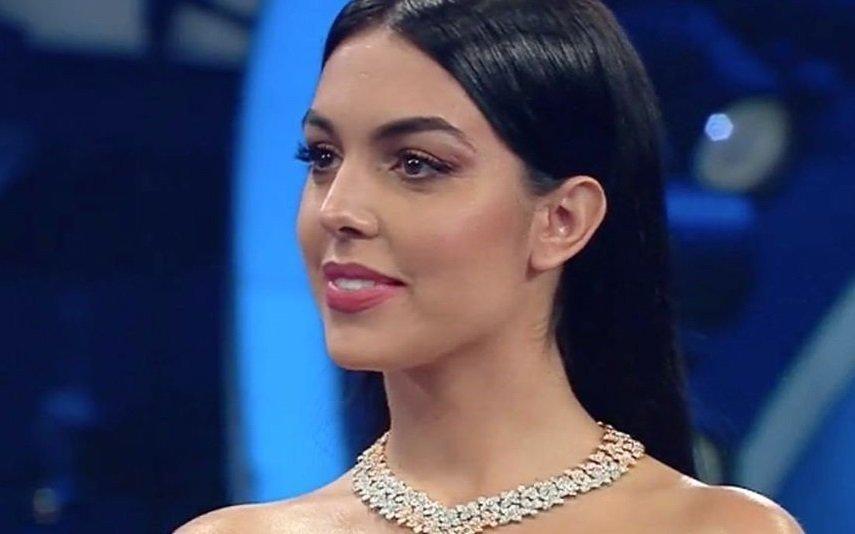 Georgina Rodriguez A primeira aparição da namorada de Cristiano Ronaldo em Sanremo (vídeo)