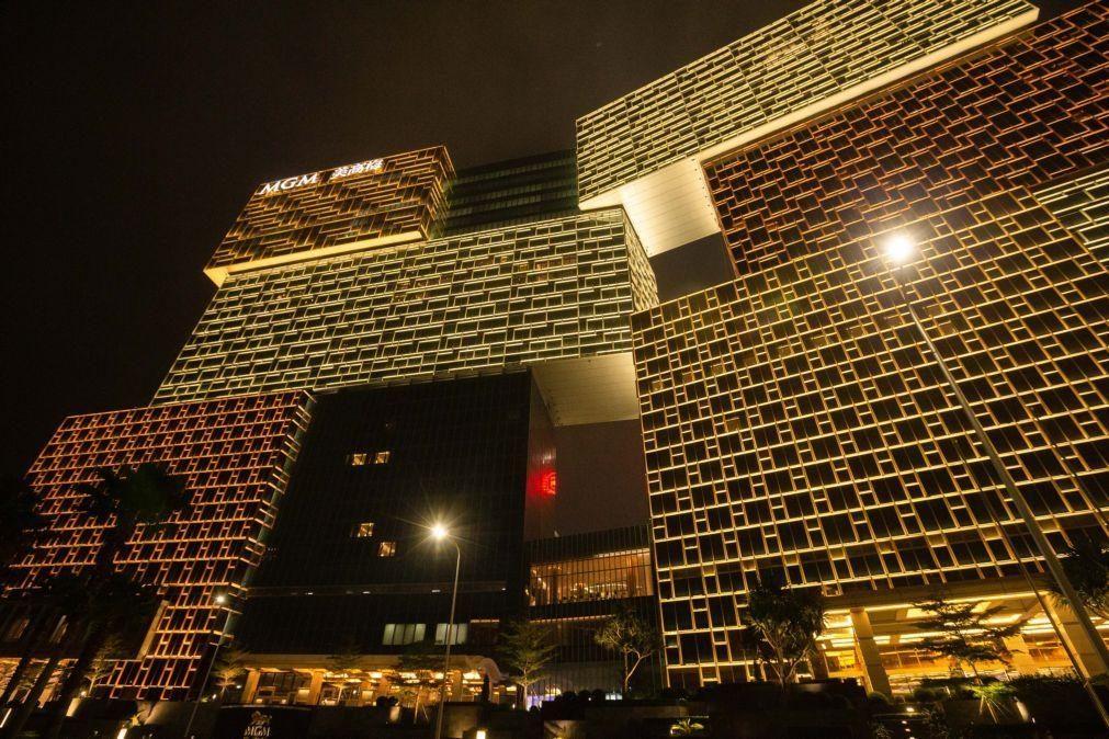 Receitas líquidas dos casinos da MGM em Macau aumentam 19% em 2019