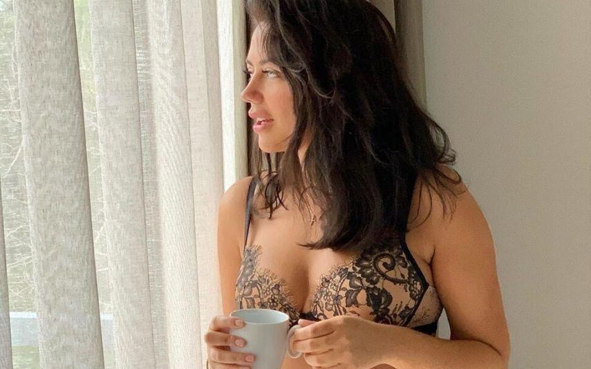 Sofia Ribeiro Posa só de lingerie e arranca suspiros: «Ainda dizem que não há anjos na terra»