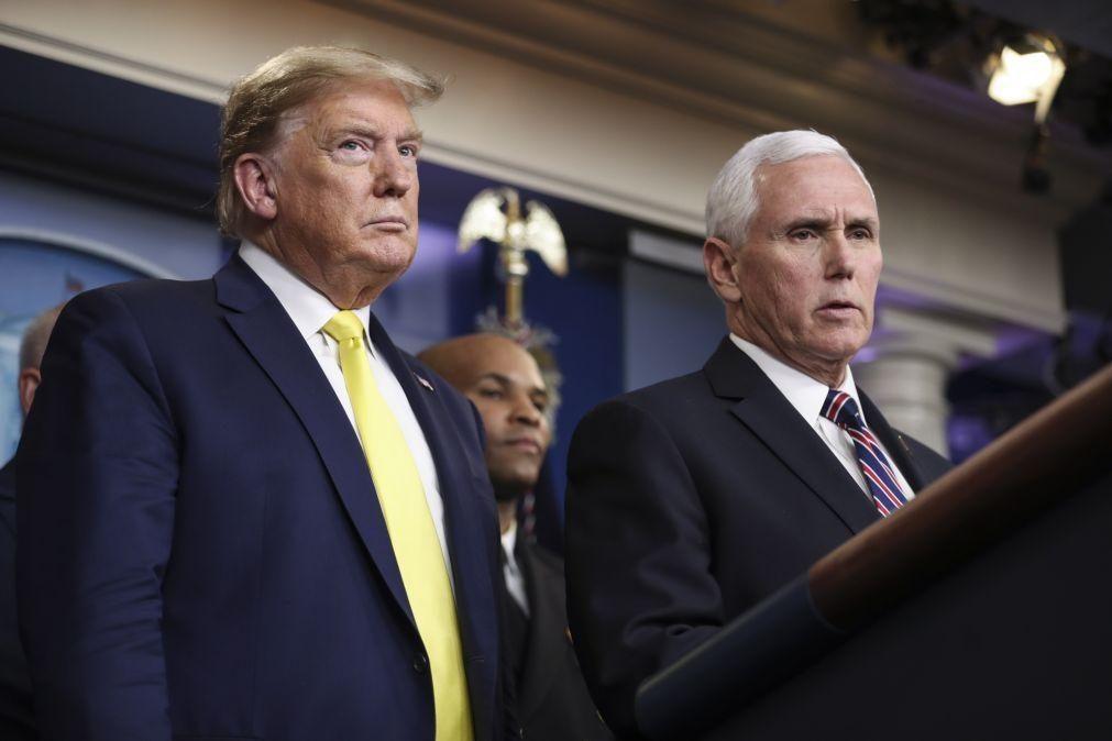 Covid-19: Pence afirma desconhecer se Presidente dos EUA já fez análises