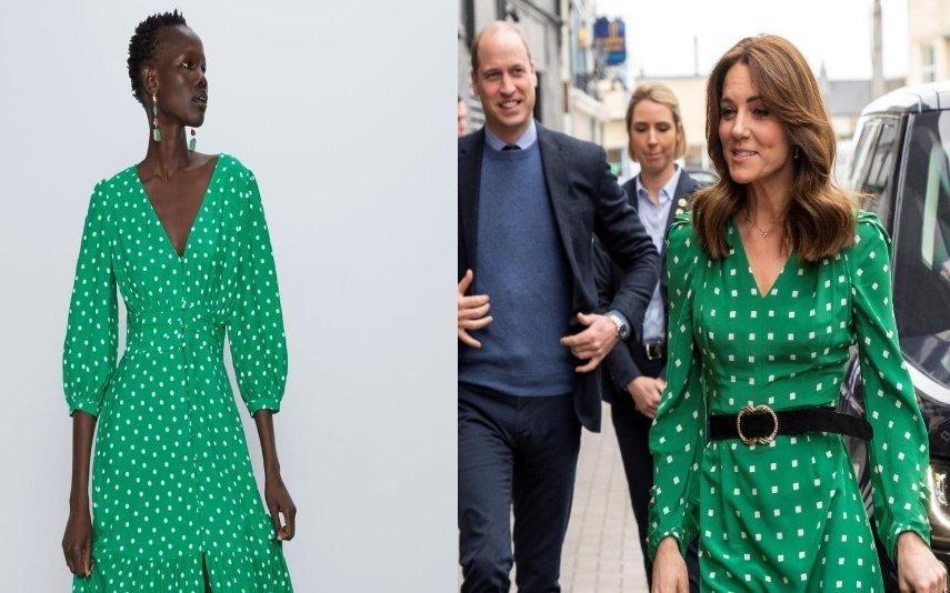 Copie o estilo de Kate Middleton com este vestido da Zara, disponível online