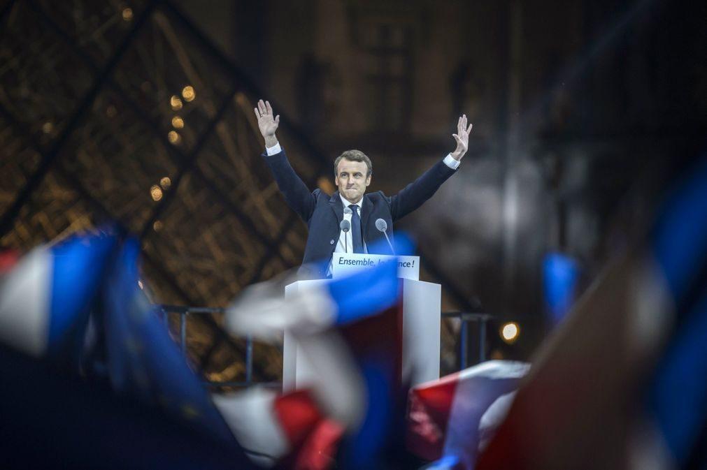 Macron eleito com 66,10% dos votos
