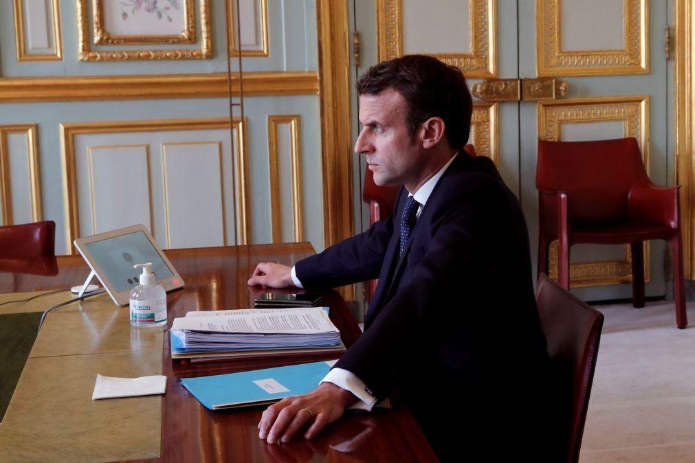 Covid-19: Crise não será superada sem uma forte solidariedade europeia - Macron