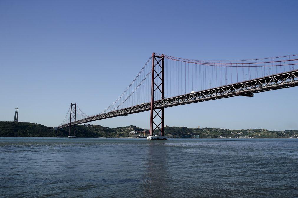 Trânsito condicionado na Ponte 25 abril devido a acidente