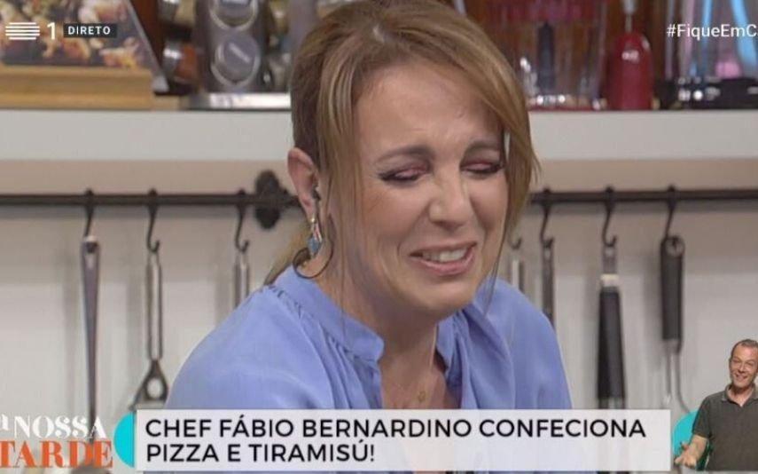 Tânia Ribas de Oliveira diz palavrão em direto e fica embaraçada: «Peço desculpa»