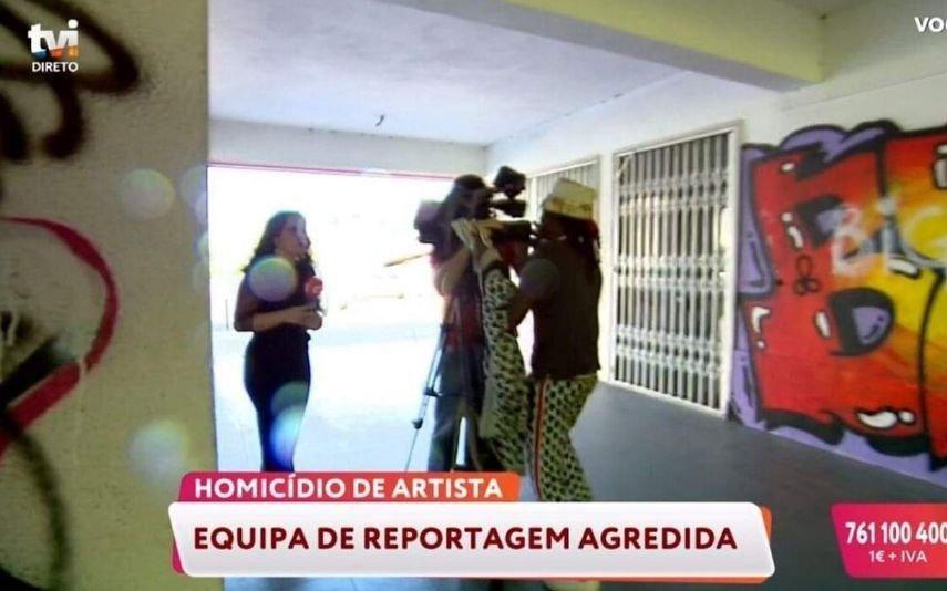 Equipa da TVI agredida durante reportagem ao local onde o rapper Mota Jr foi raptado