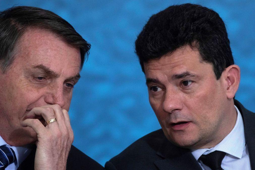 Covid-19: Bolsonaro acusa Moro de covardia e de contrariar ideologias do Governo
