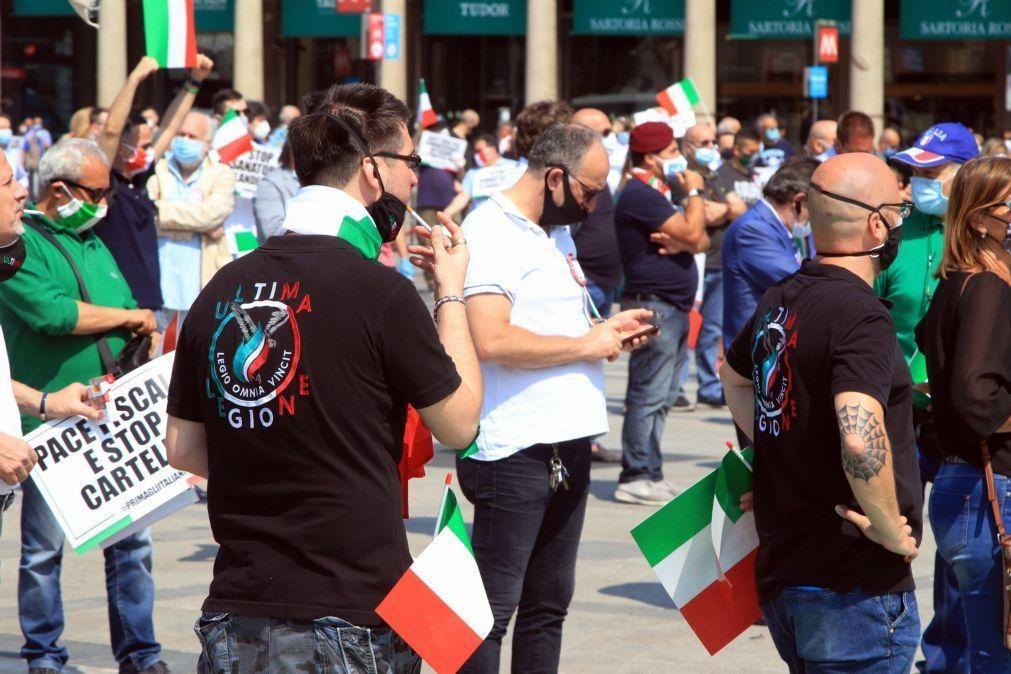 Covid-19: Extrema-direita italiana protesta contra o Governo apesar da pandemia