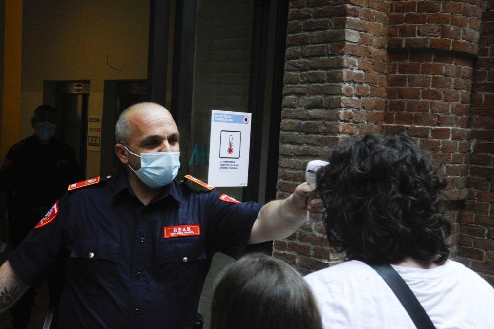 Covid-19: Itália regista 55 óbitos e 318 novos casos de infeção num dia