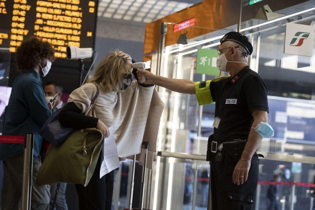 Covid-19: Itália abre circulação interna e fronteiras no espaço Schengen