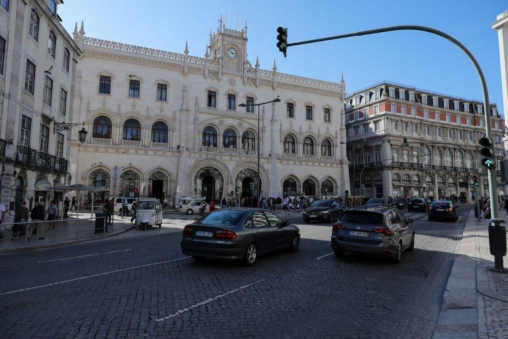 Restrições ao trânsito automóvel na Baixa de Lisboa adiadas
